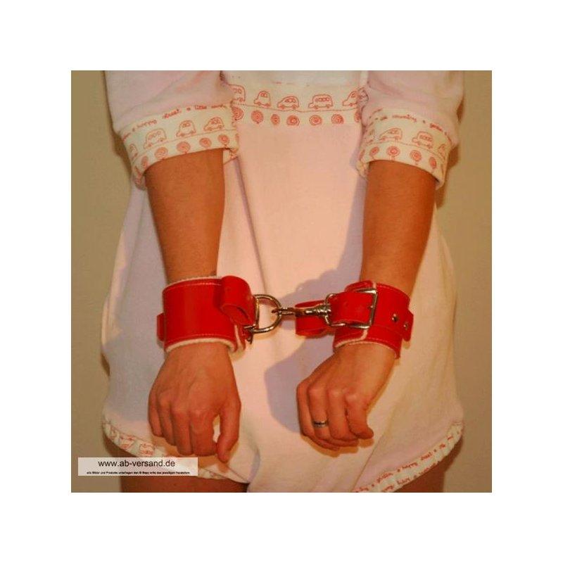 Handfessel Leder gepolstert Britney