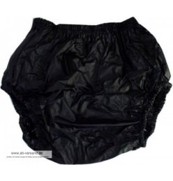 2201 PVC Pants Pull-on pants black S