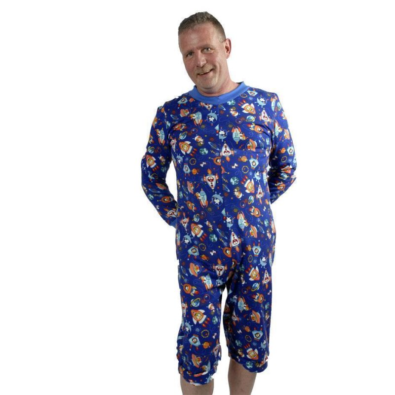 Short Play and Sleeping suit Universe blue