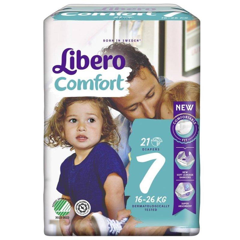 Libero Comfort Windeln, Größe 7, 16-26 kg, Packung à 21 Stück