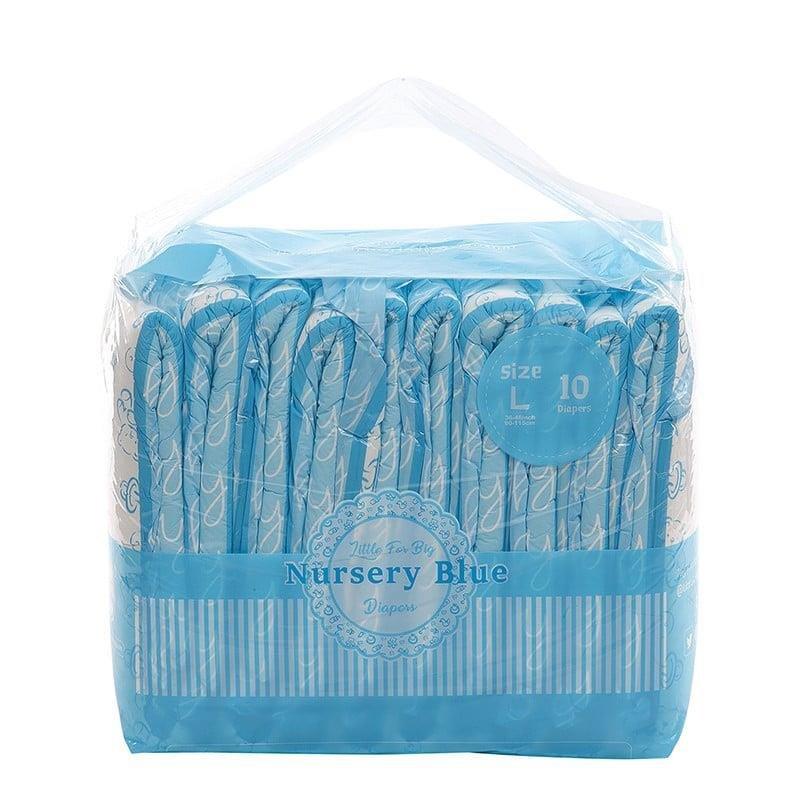 LFB Nursery blue Adult Brief Diaper,