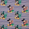 Mickey Mousekopf  blau gestreift