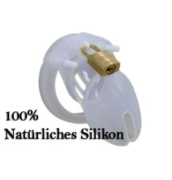 Male Chastity CB-XS Silikon clear Peniskäfig, kleiner...