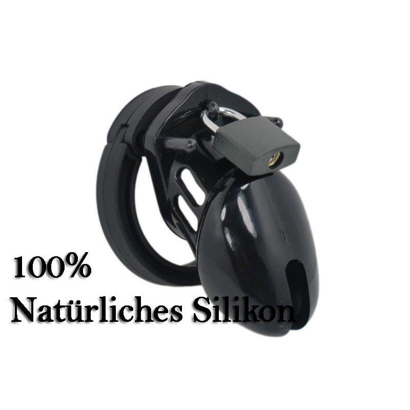 Male Chastity CB-XS Silikon black Peniskäfig, kleiner mini Keuschheitsgürtel für Männer