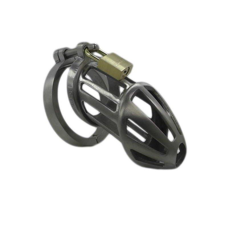 BON4  Small Peniskäfig aus Edelstahl Keuschheitsgürtel für Männer BON4 Metal Chastity Device