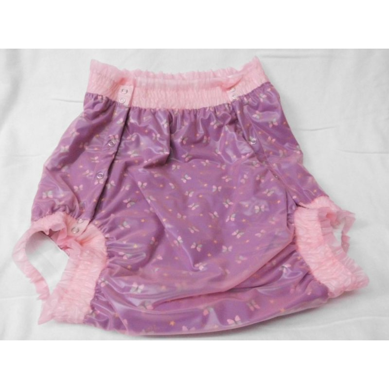 three-layered button-up nappy pants Butterfly