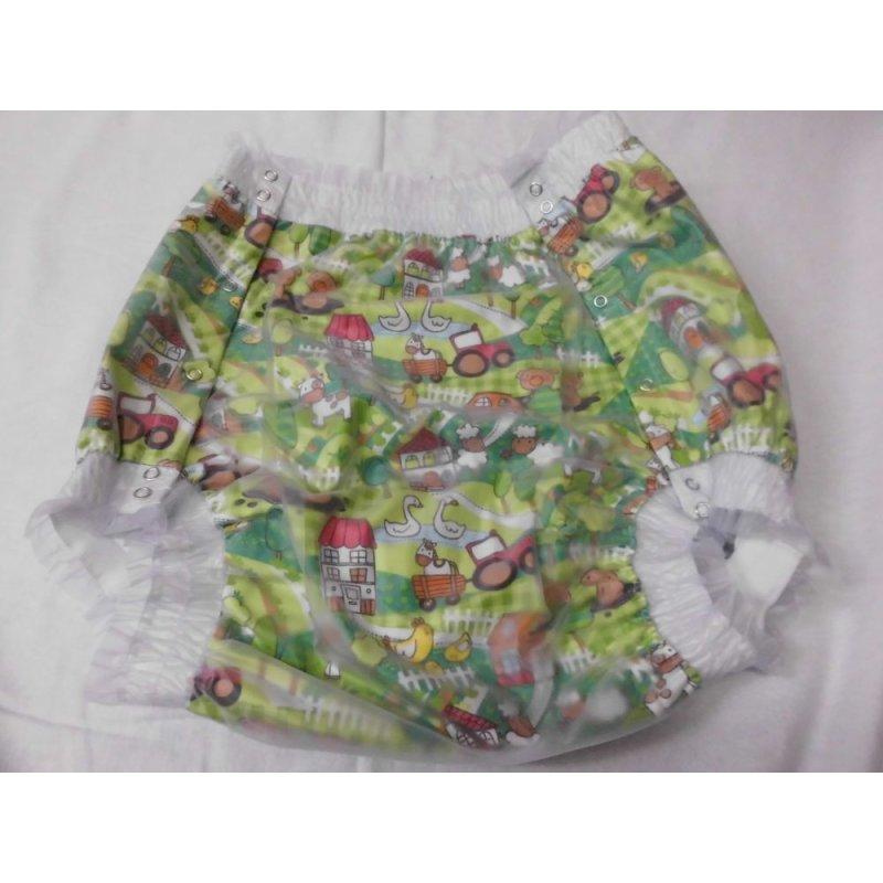 three-layered button-up nappy pants Farm
