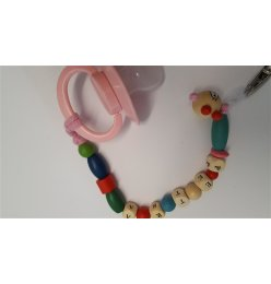Pacifier chain with your name. For boys or girls