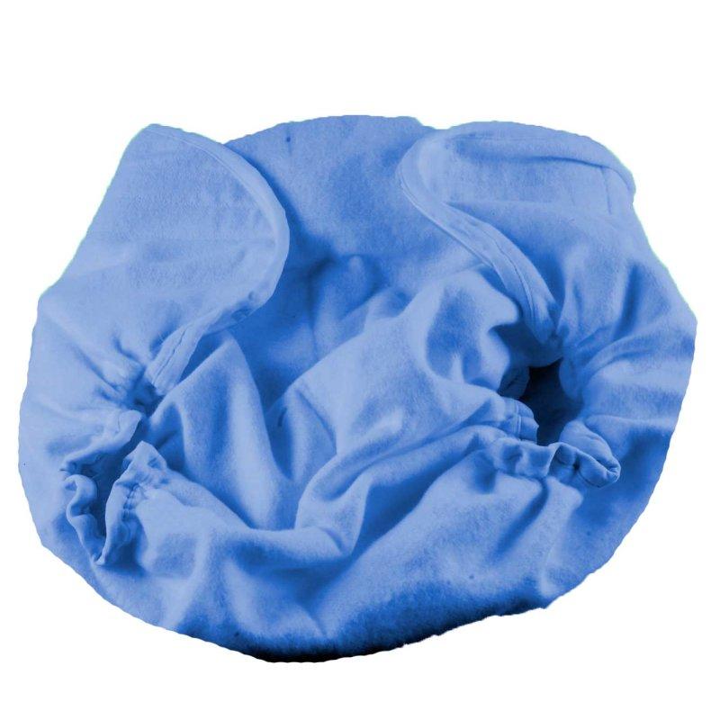 Windelgummihose aussen Molton blau innen PVC