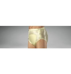 Suprima 1249 PVC brief, buttoned  transparent-blau M