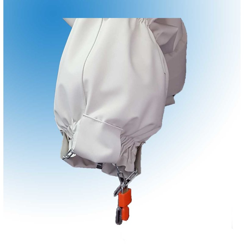 Strafhose Zeuz long by Big Kiddyfee PVC weiss XXXXL