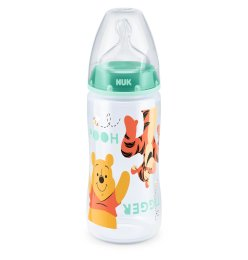 NUK Disney Winnie Puuh First Choice+ Babyflasche Mint