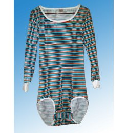 Shirt  Wickel Body 0982 mit langen Arm  gestreift gn