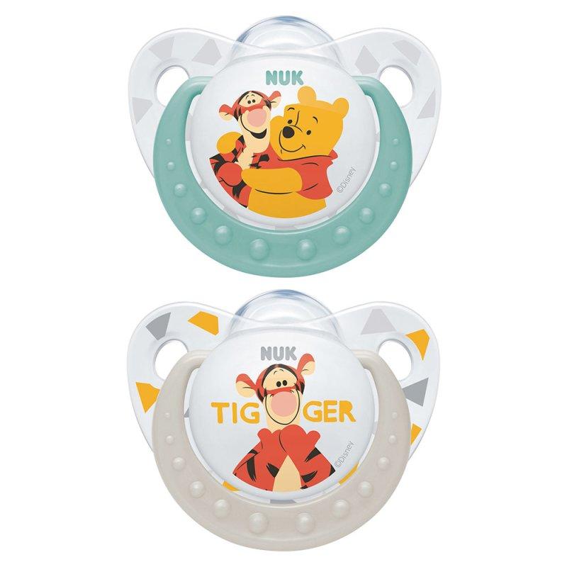 Nuk Schnuller  Trendline - Silikon 6-18 M - Disney Winnie Pooh - Türkis Lachs