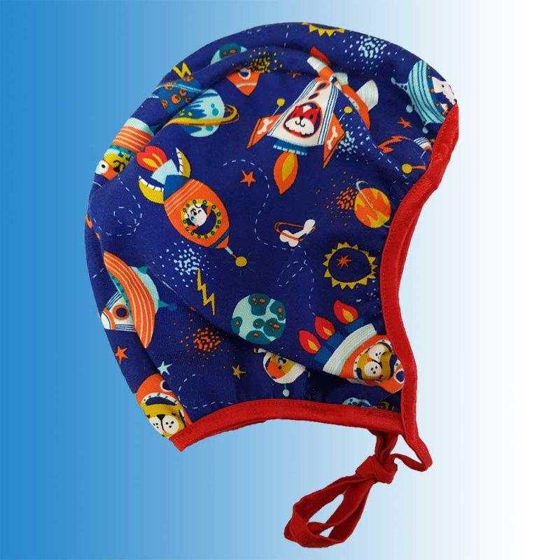 Mütze Funny Blau Weltall